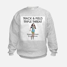 Women's Track and Field Slogan Sweatshirt