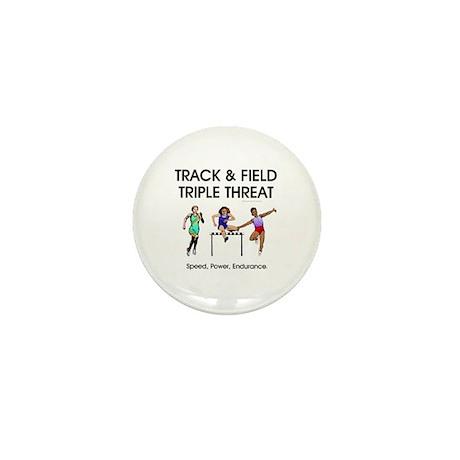 Women's Track and Field Slogan Mini Button (100 pa
