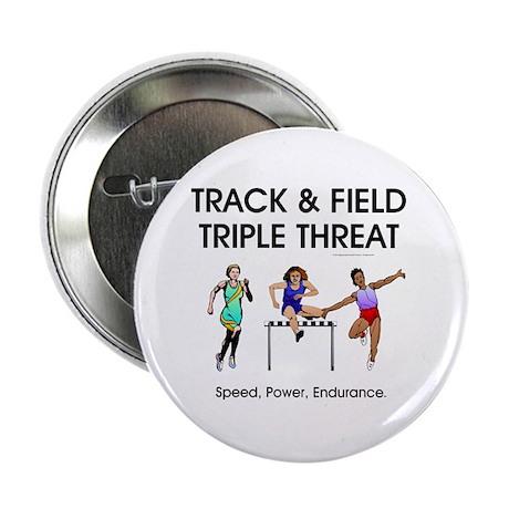 "Women's Track and Field Slogan 2.25"" Button (100 p"
