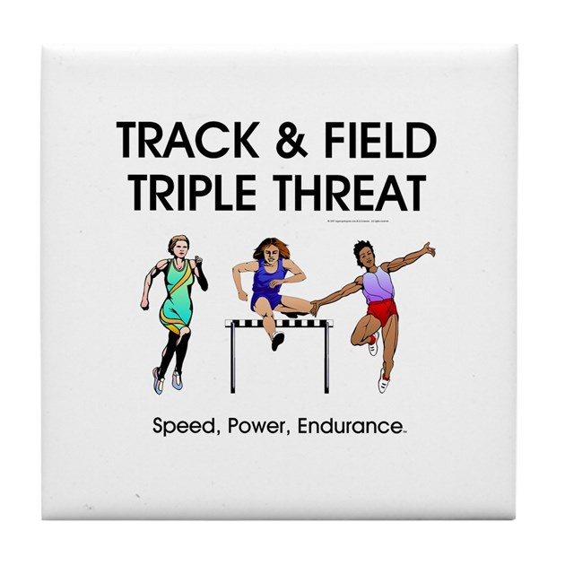Women s track and field slogan tile coaster by limitlesspos