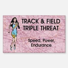 Women's Track and Field Slogan Decal