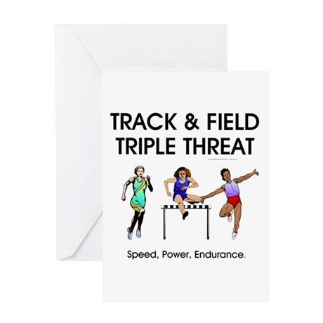 Women's Track and Field Slogan Greeting Card