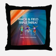 Women's Track and Field Slogan Throw Pillow