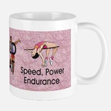 Women's Track and Field Slogan Mug