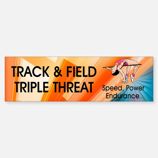 Women's Track and Field Slogan Sticker (Bumper)