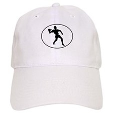 Racquetball Player Silhouette Oval Baseball Baseball Cap
