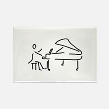 pianist piano player wing Magnets