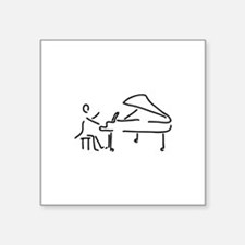 pianist piano player wing Sticker