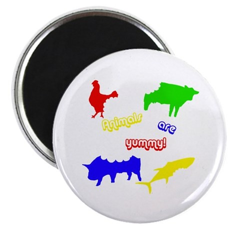 """Animals are yummy! 2.25"""" Magnet (10 pack)"""