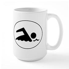 Swimmer Oval Mugs
