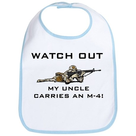 Watch Out! Military Uncle M-4 Bib