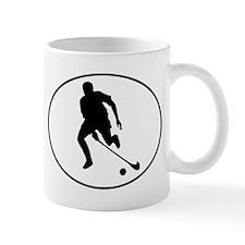 Field Hockey Player Silhouette Oval Mugs