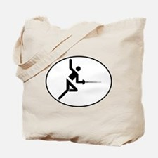 Fencing Oval Tote Bag