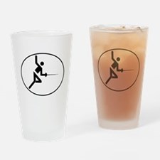 Fencing Oval Drinking Glass