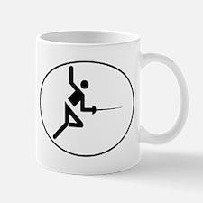 Fencing Oval Mugs