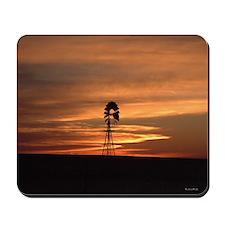 Windmill Sunset Mousepad | Mouse Pad