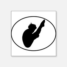 Diver Silhouette Oval Sticker