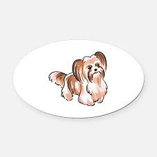 MI KI DOG Oval Car Magnet