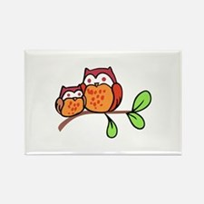TWO CUTE OWLS Magnets