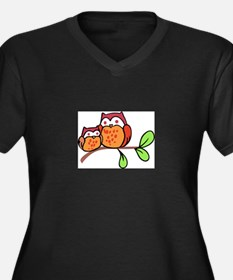 TWO CUTE OWLS Plus Size T-Shirt