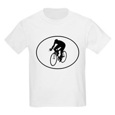 Cyclist Silhouette Oval T-Shirt