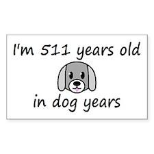 73 dog years 2 - 3 Decal