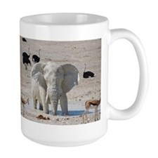 White mud elephant Mugs