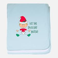 LET THE SPOILING BEGIN baby blanket