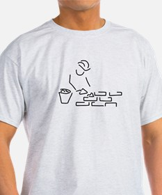 bricklayer construction worker building of T-Shirt