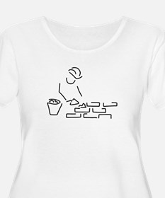 bricklayer construction worker b Plus Size T-Shirt