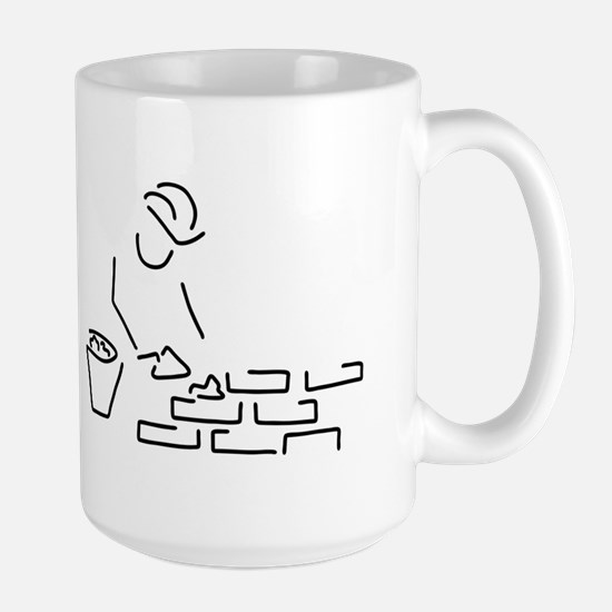bricklayer construction worker building of a Mugs