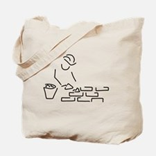 bricklayer construction worker building o Tote Bag