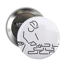 """bricklayer construction worker buildi 2.25"""" Button"""