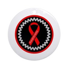 Red Awareness Hope Ribbon Ornament (Round)