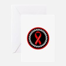 Red Awareness Hope Ribbon Greeting Cards
