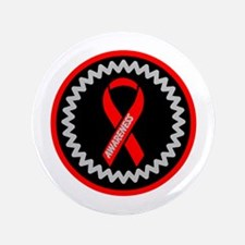 """Red Awareness Hope Ribbon 3.5"""" Button (100 pack)"""