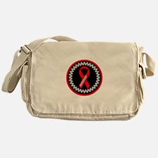 Red Awareness Hope Ribbon Messenger Bag