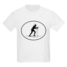Biathlete Silhouette Oval T-Shirt