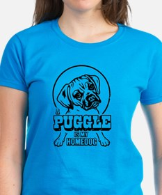 A PUGGLE Is My Homedog -Women's Dark Tee