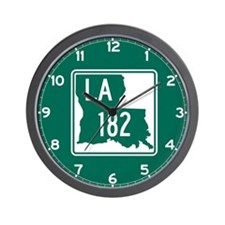 Route 182, Louisiana Wall Clock