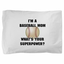 Baseball Mom Superhero Pillow Sham
