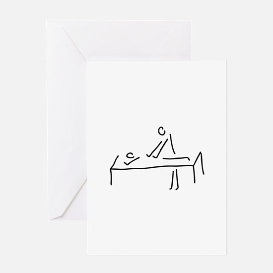 massages, physiotherapist Greeting Cards