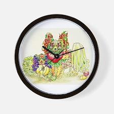 Papillon and Phalene Fruit Wall Clock