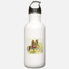 Papillon and Phalene F Water Bottle