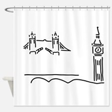 London tower bridge big ben Shower Curtain
