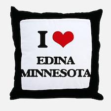 I love Edina Minnesota Throw Pillow