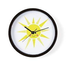 Happy Sunshine Wall Clock