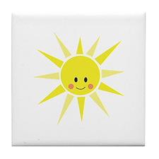 Happy Sunshine Tile Coaster