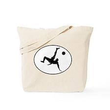 Bicycle Kick Oval Tote Bag