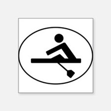 Rower Oval Sticker